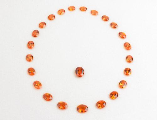 Mandarin Garnet Suite 99.05cts